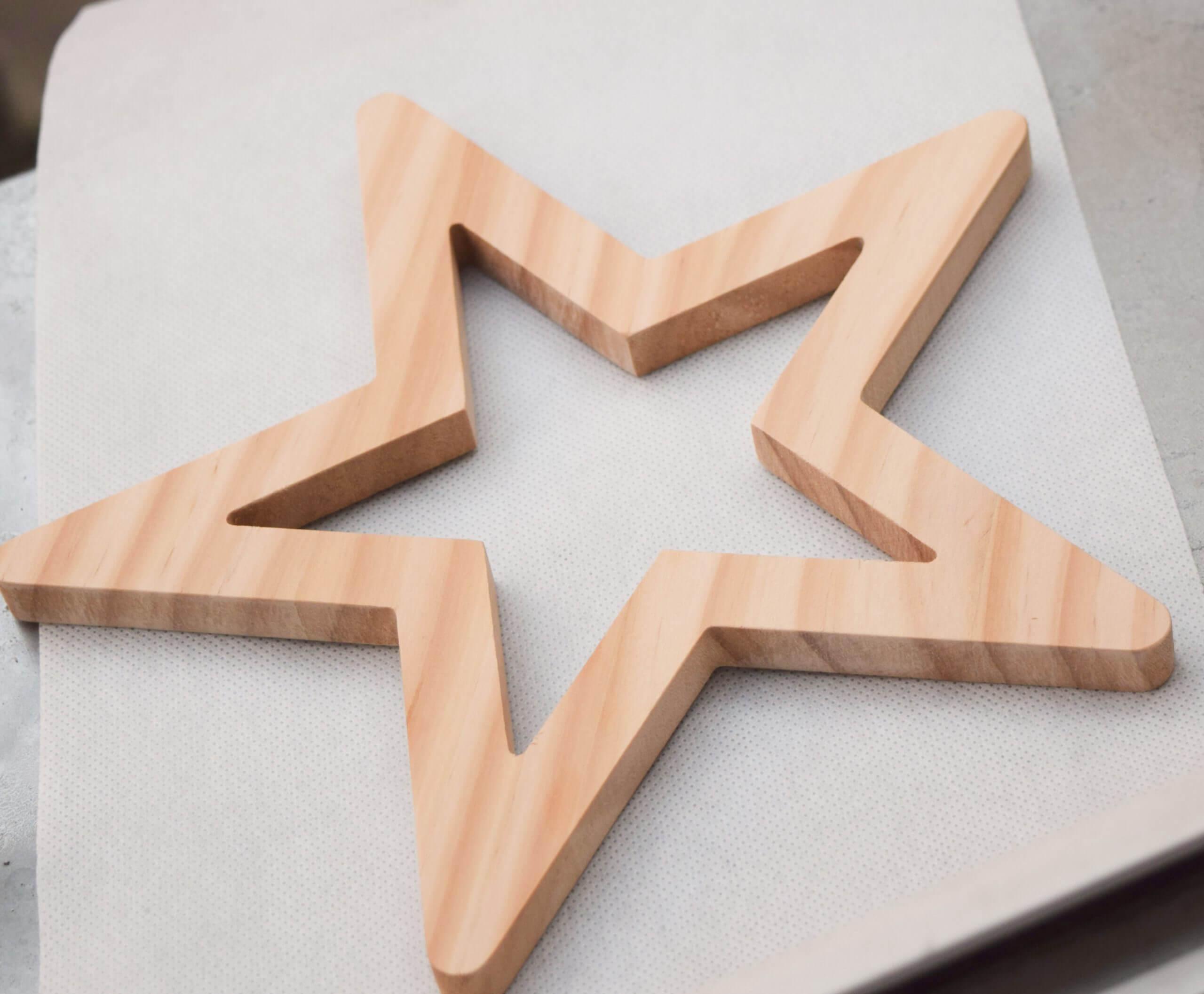 Drewniana gwiazdka