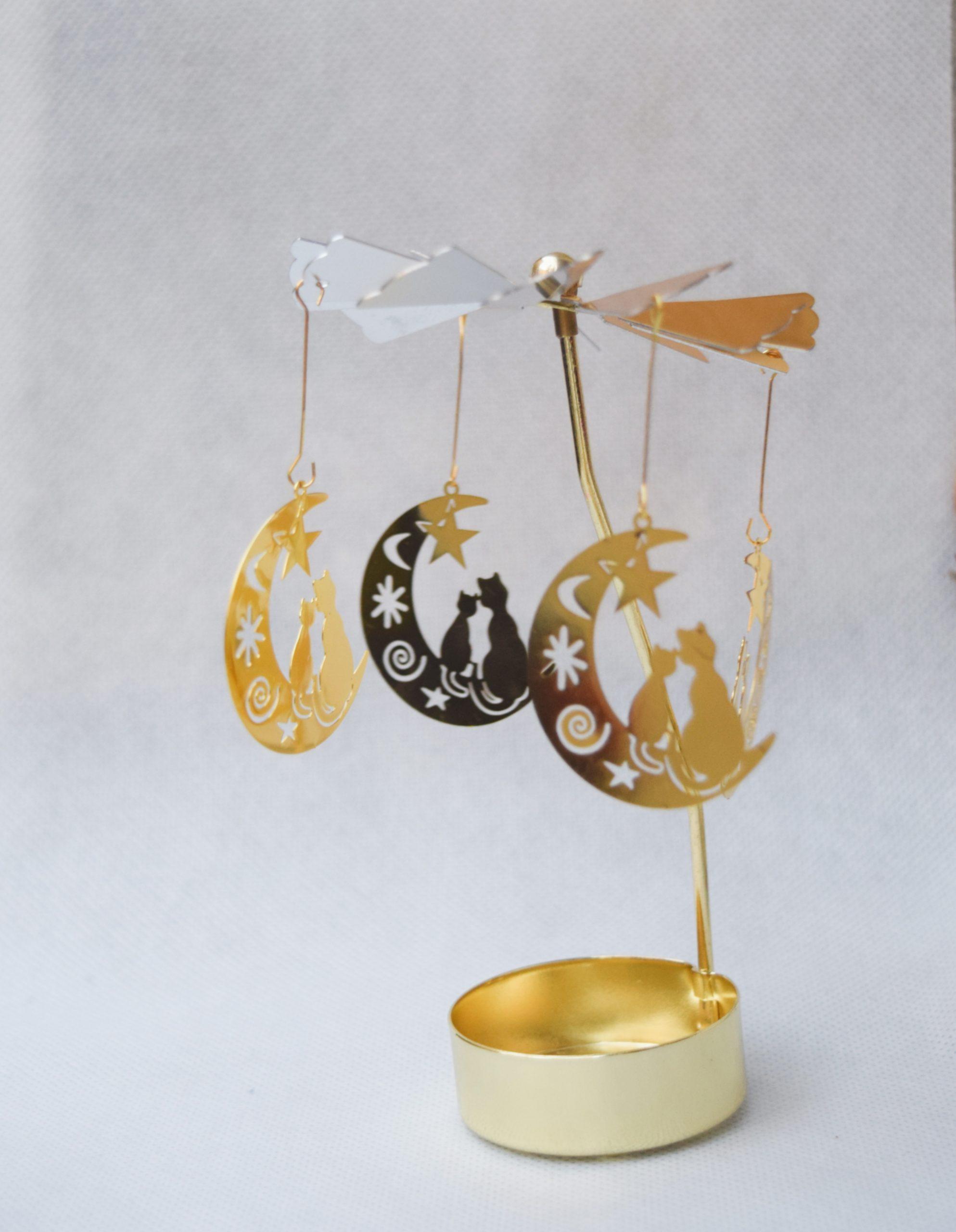 Karuzela Koty na księżycu złote