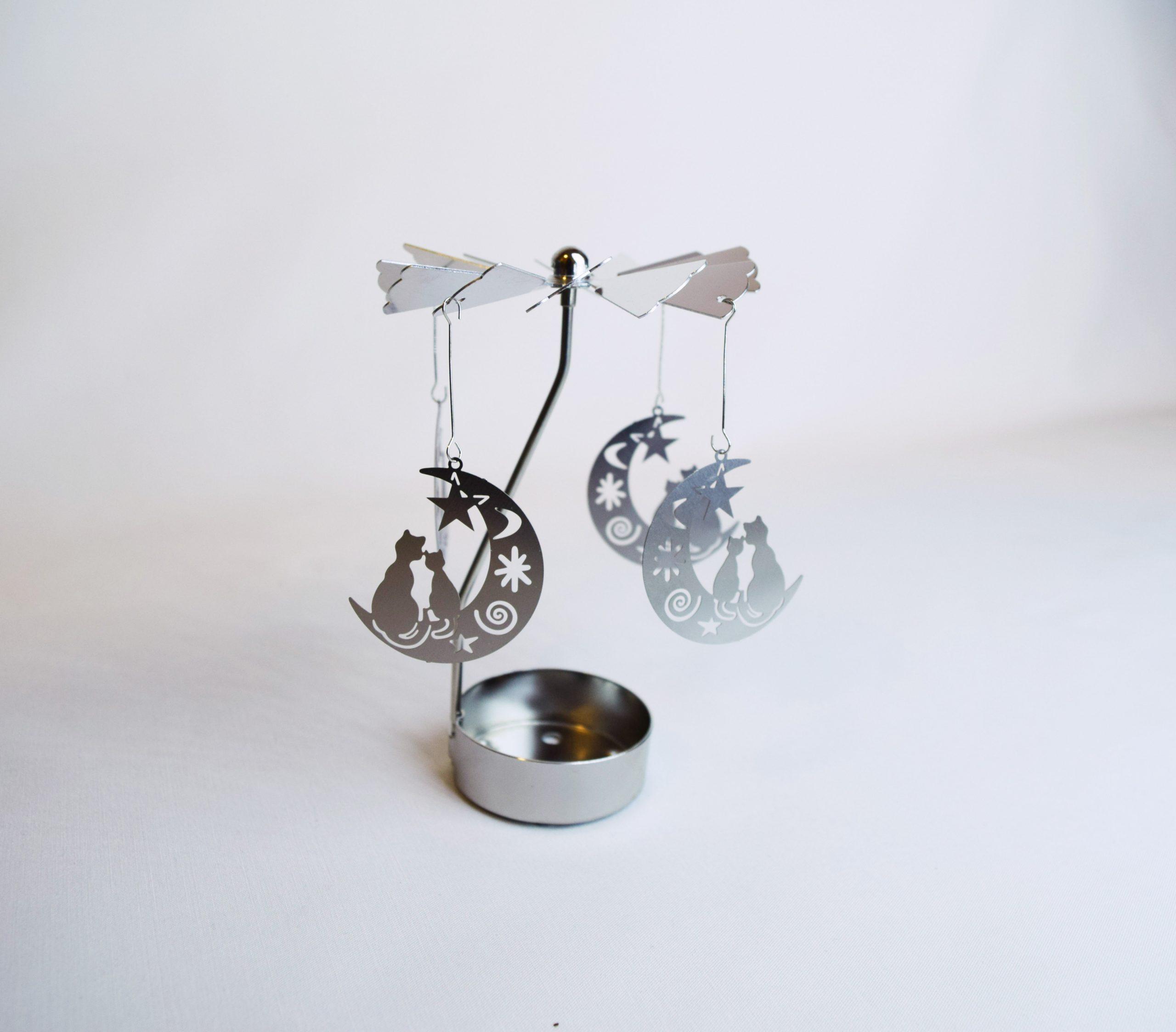 Karuzela Koty na księżycu srebrne
