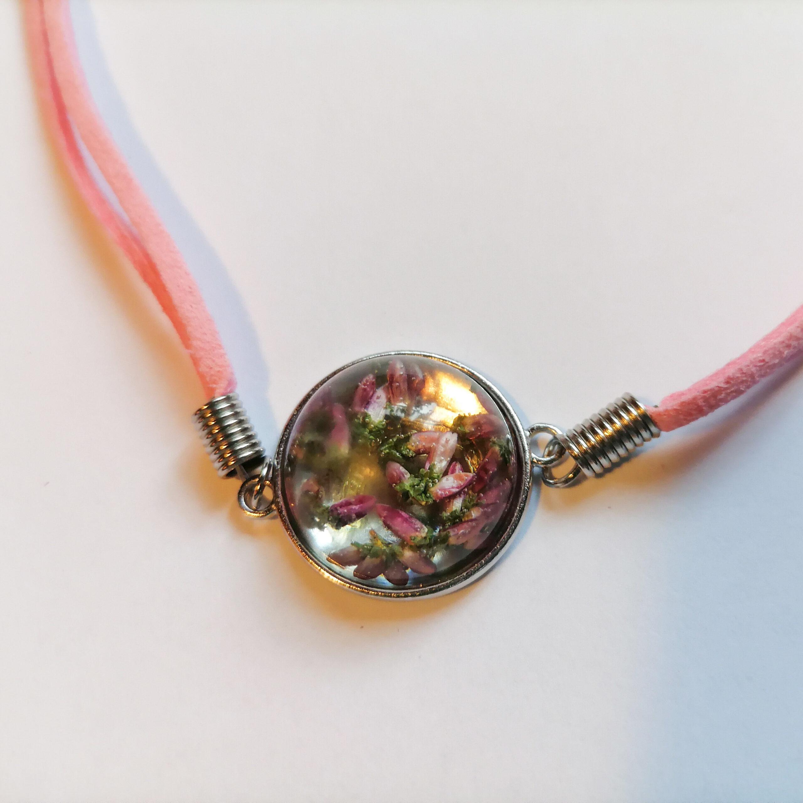 Bransoletka Peruny różowa