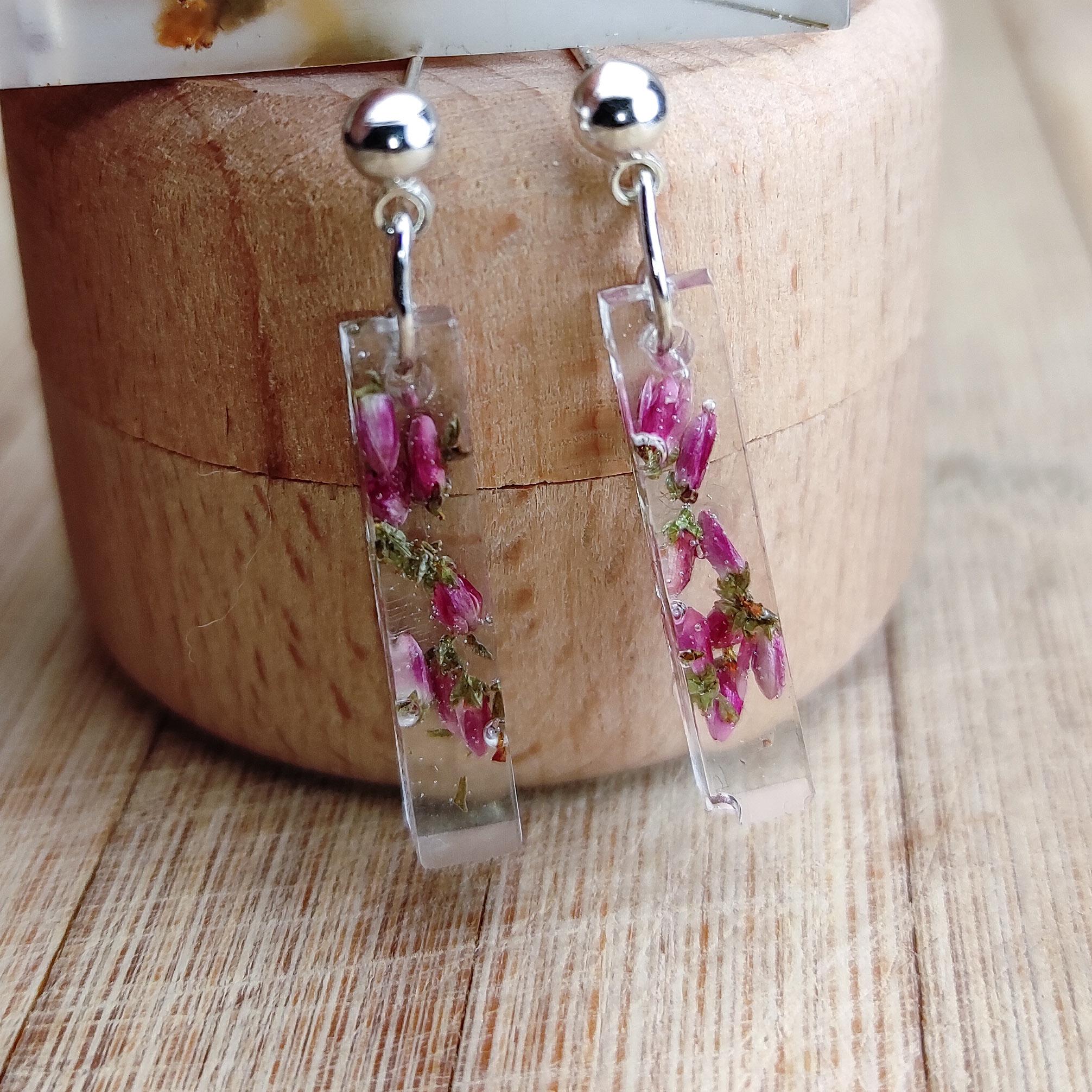 Kolczyki Zańki różowe