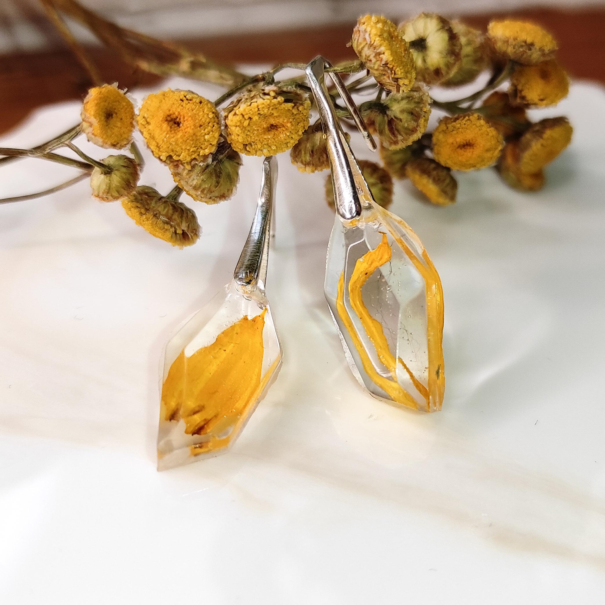 Kolczyki Marianki żółte