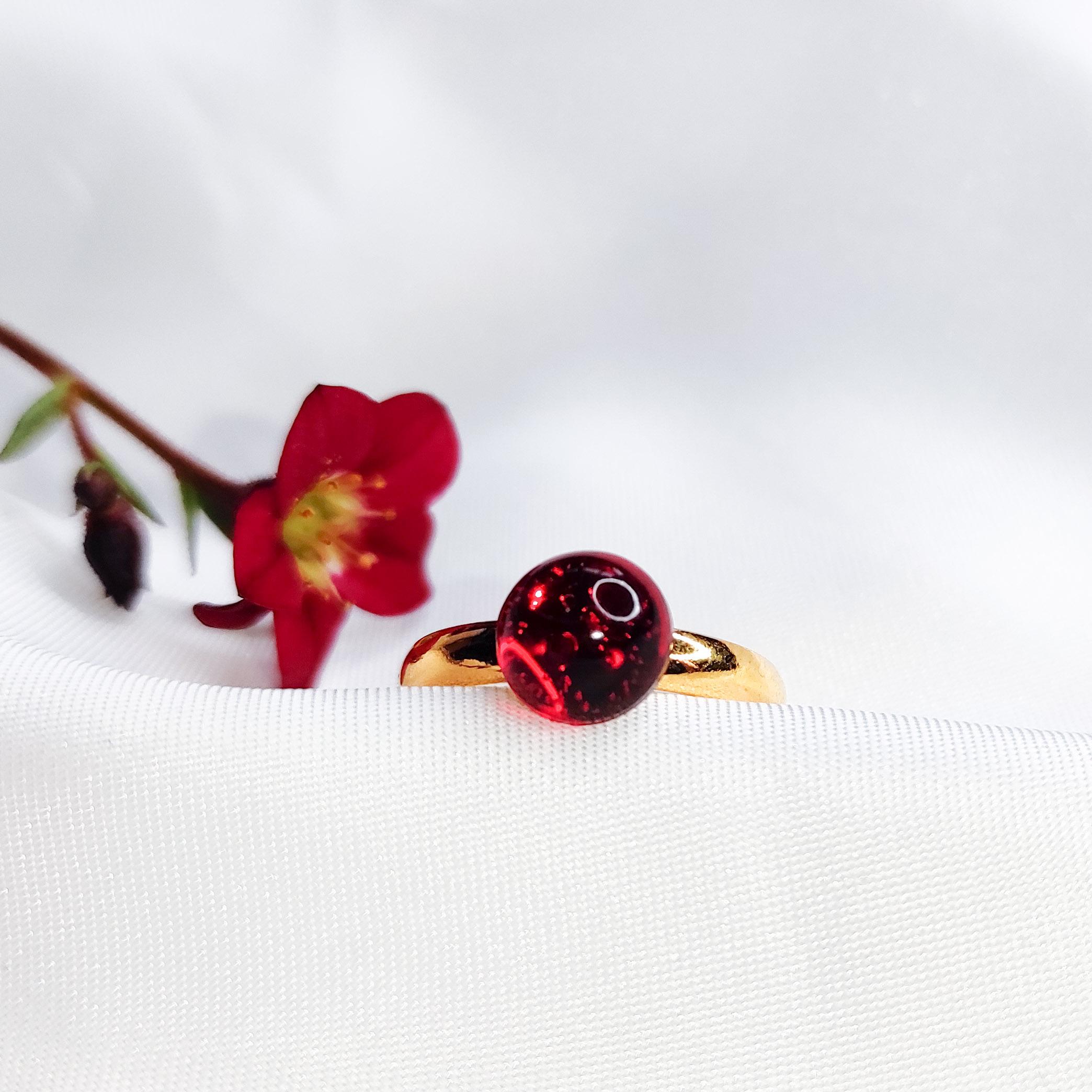 Pierścionek Rubinki mini złoty
