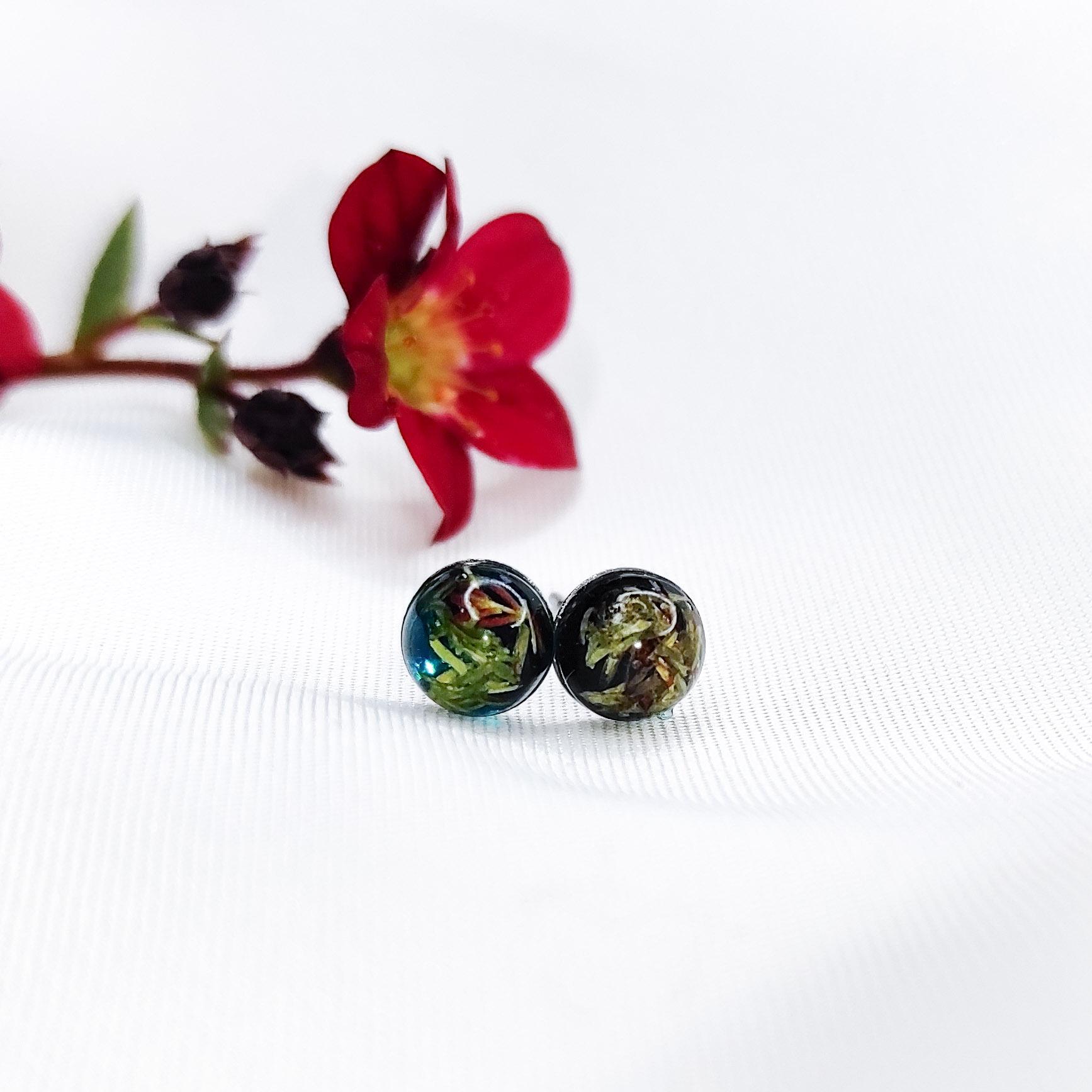 Kolczyki Zielonobogi mikro