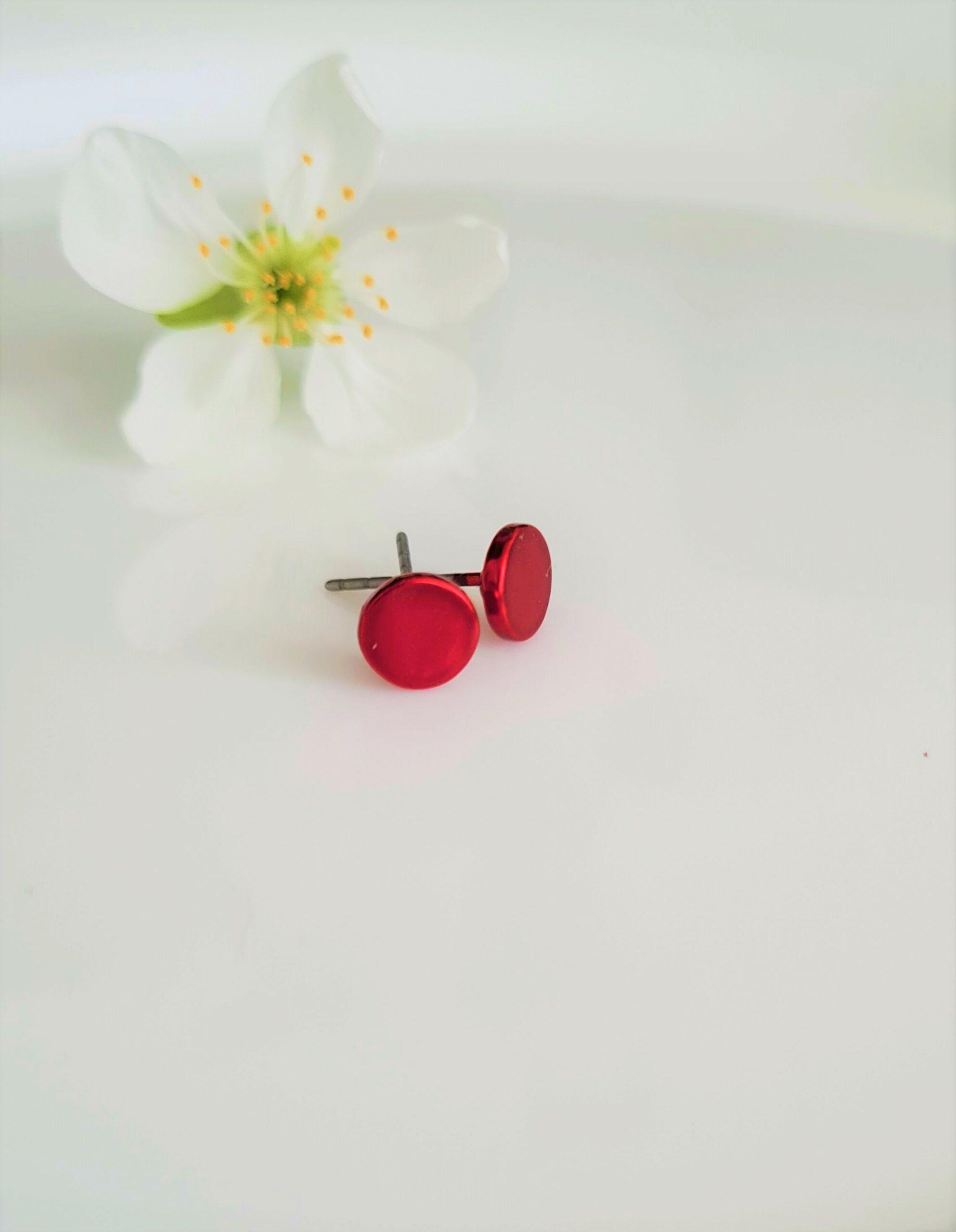 Kolczyki Czerwonki mini