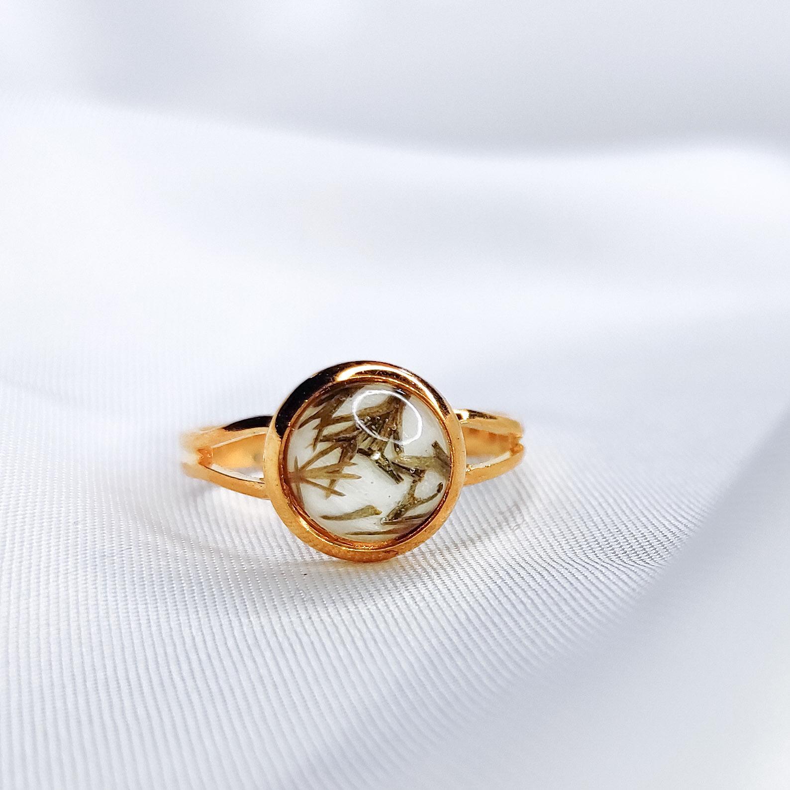 Pierścionek Borowy mini złoty